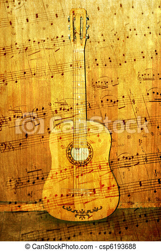 acoustic guitar - csp6193688