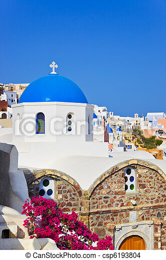 Santorini church (Oia), Greece - csp6193804