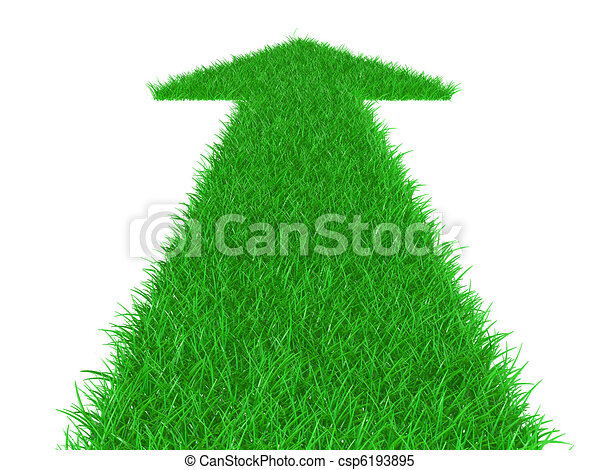 Arrow from a grass directed upwards - csp6193895