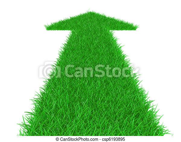 Arrow from a grass directed upwards - csp6193895