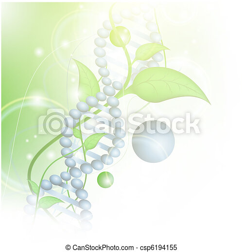 Organic Science theme with DNA - csp6194155