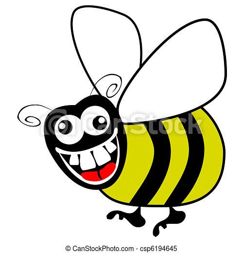 Clipart vettoriali di alle noci, incespicare, ape - Matto, affamato ...