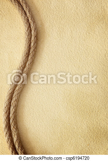 Rope on old paper - csp6194720