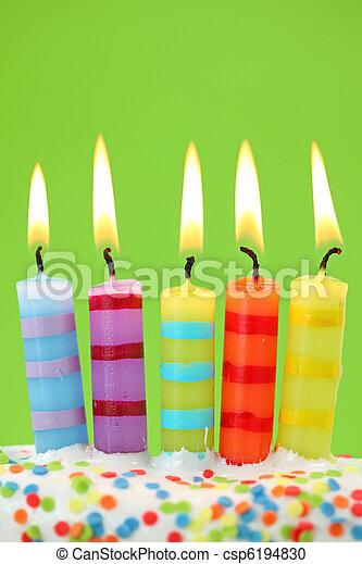 Five birthday candles - csp6194830