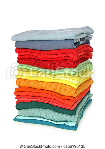 Stack of clothes - csp6195135