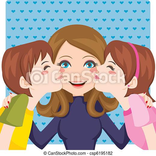 Kissing Mom - csp6195182