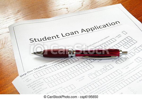 a blank student loan application, and pen - csp6195650