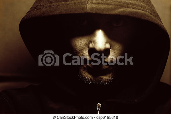 Picture of a mysterious monk - csp6195818