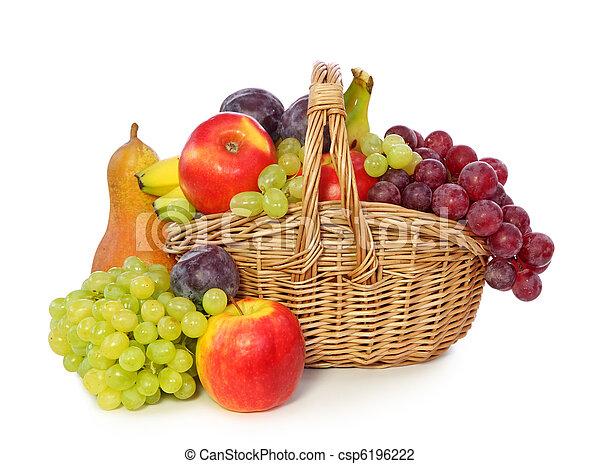 Fruits in basket  - csp6196222