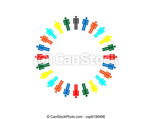 colorful planet business connection - csp6196496