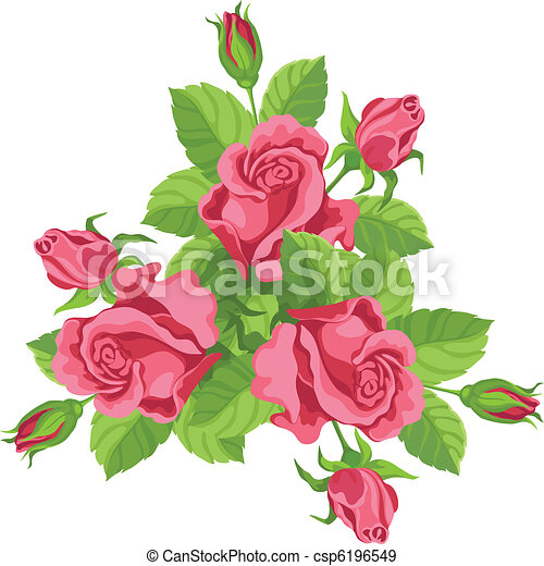 funny bouquet of roses - csp6196549