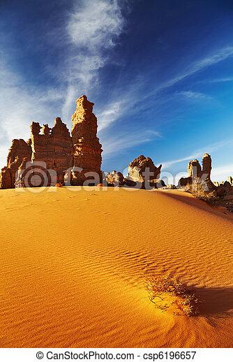 Sahara Desert, Tassili N'Ajjer, Algeria - csp6196657