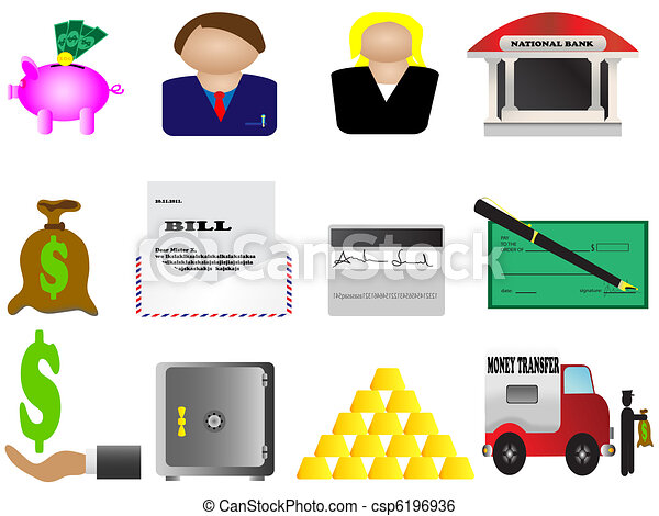 Finance and banking icons set - csp6196936