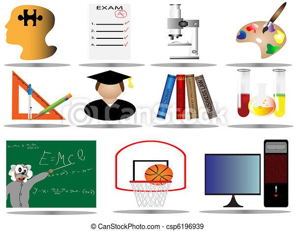 education icons,school icon set - csp6196939