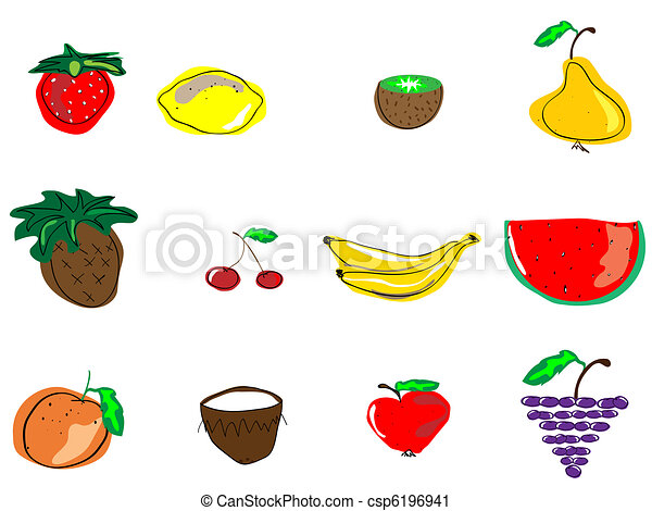 fruits, different types of fruits - csp6196941