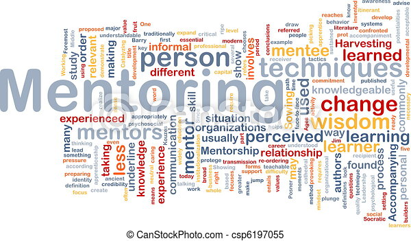 Mentoring background concept - csp6197055
