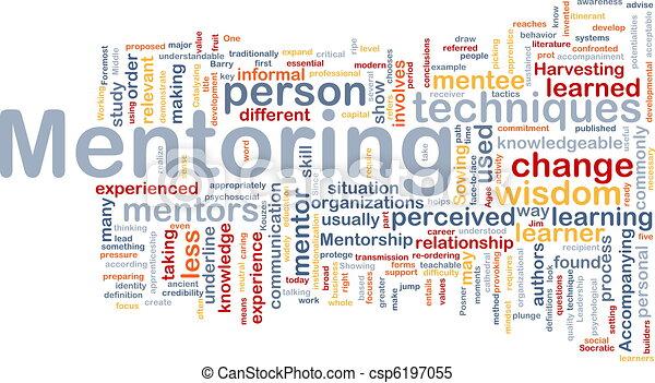 Mentoring background concept - csp6197055