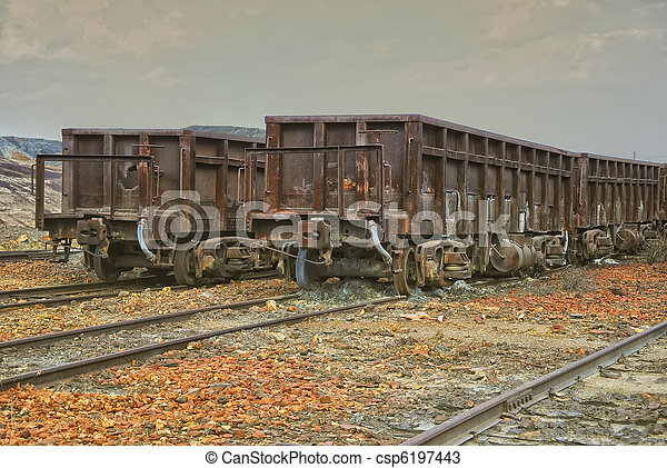 Abandoned facilities freight cars - csp6197443
