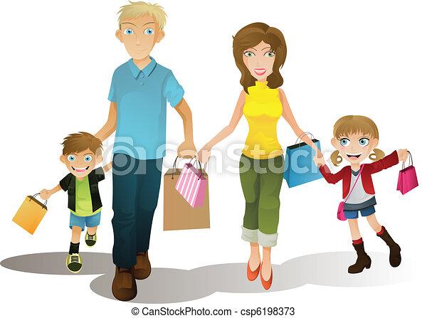 Shopping family - csp6198373