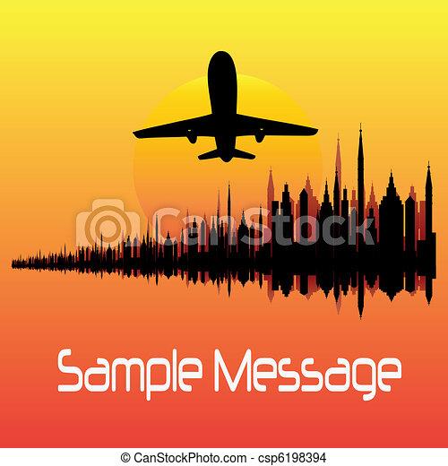 City Break Vector Background  - csp6198394