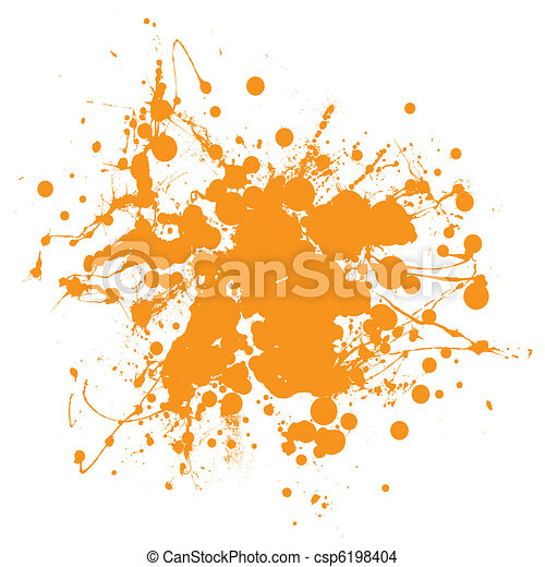 Orange ink splat - csp6198404