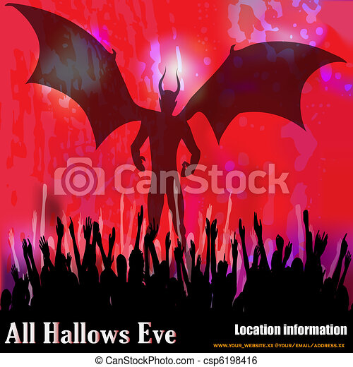 All Hallows Eve Vector Background - csp6198416