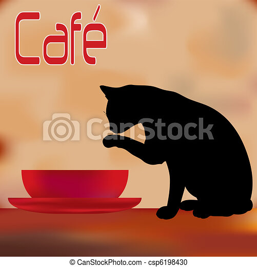 Cat with the Cream Cafe Menu - csp6198430