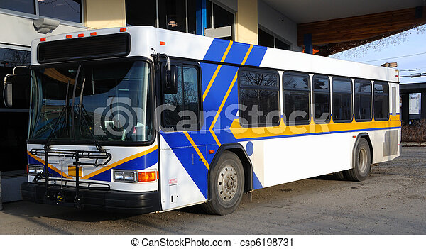 Blank Advertising Billboard on Public Bus - csp6198731