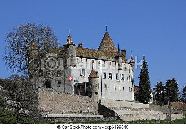 castle switzerland - csp6199040