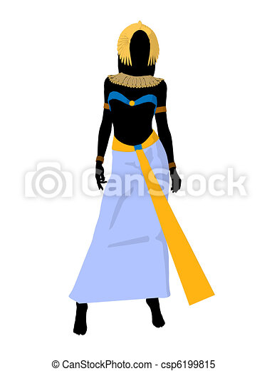 Stock Illustrations of Cleopatra Illustration Silhouette ...