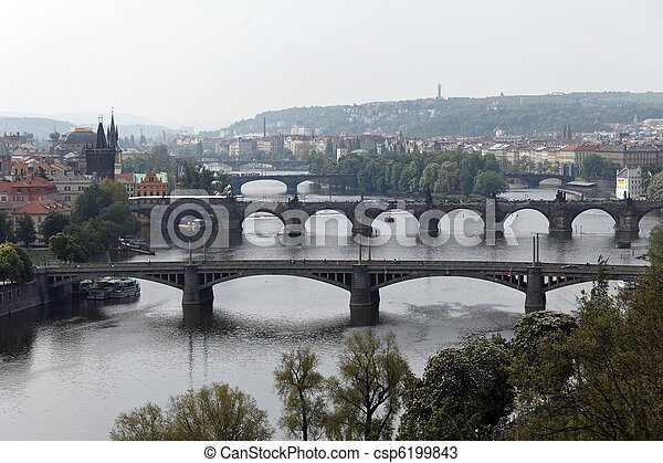 Prague bridges over the Vltava - csp6199843
