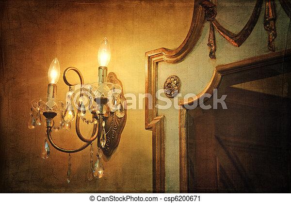 Stock fotografie von licht wand weinlese sconce for Spiegel hintergrund