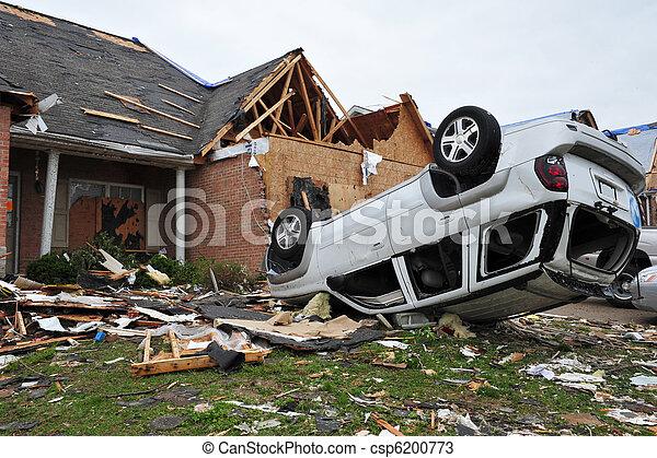 tornado destruction - csp6200773