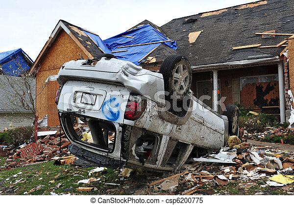 tornado destruction - csp6200775