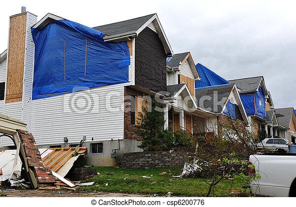tornado destruction - csp6200776