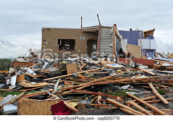 tornado destruction - csp6200779