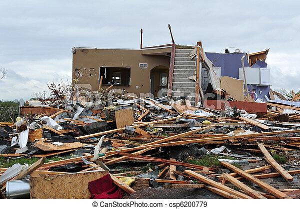 tornado destruction - csp6200779