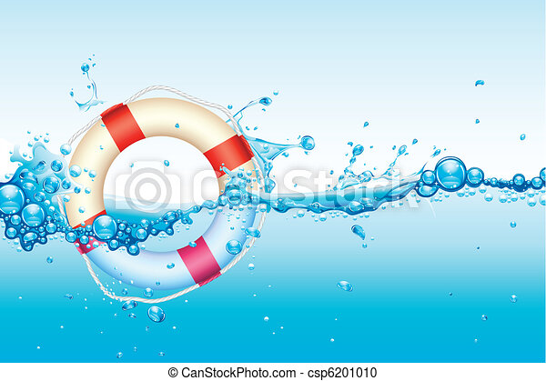 Lifebouy in Water - csp6201010