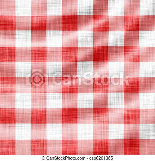 wavy red picnic cloth  - csp6201385