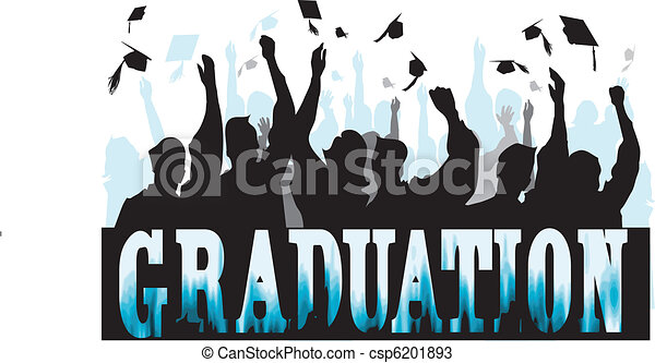 Graduation in silhouette - csp6201893