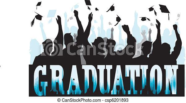 Graduation in silhouette - csp6201893
