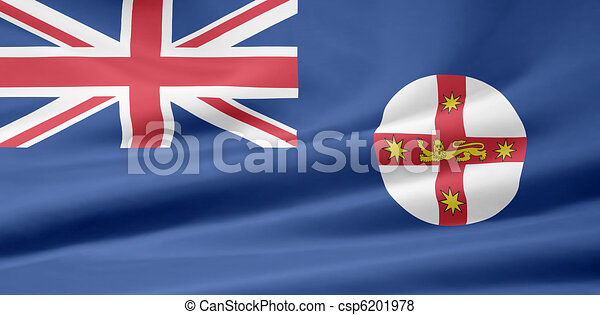 Flag of New South Wales - Australia - csp6201978