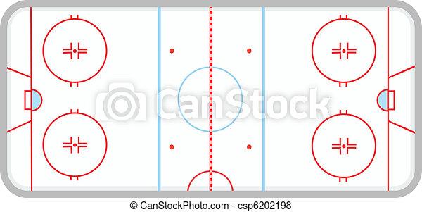 Vecteur de glace hockey patinoire vecteur illustration glace csp6202198 recherchez - Dessin patinoire ...