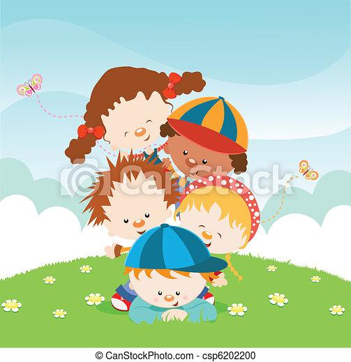 Kids Having Fun - csp6202200