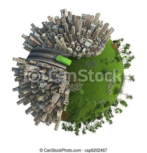 green energy transport concept planet - csp6202467