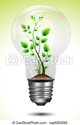 Growing Plant in Bulb - csp6202565