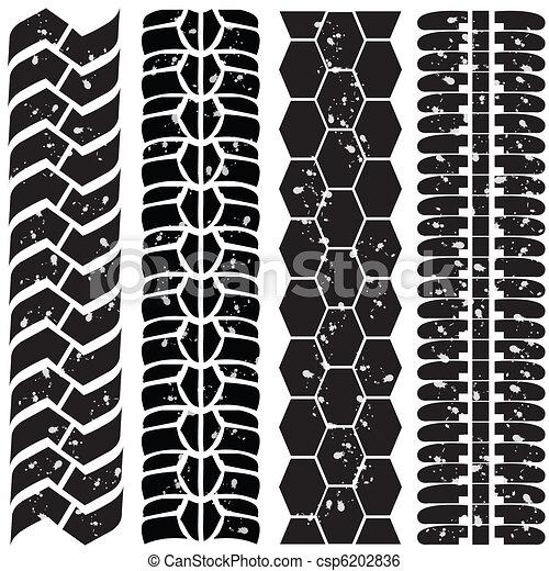 Print various automobile tyres - csp6202836
