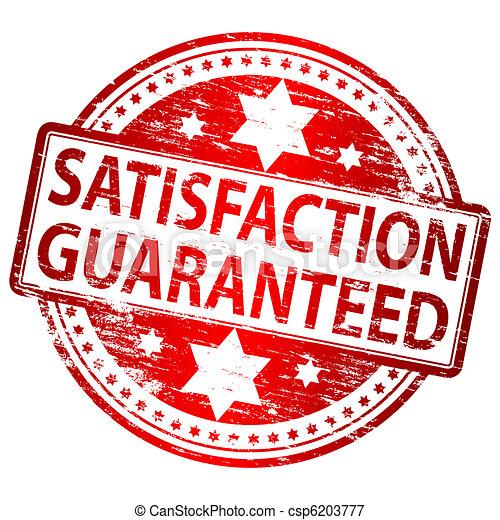 Satisfaction Guaranteed stamp - csp6203777