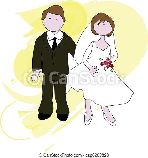Bridal couple - csp6203828