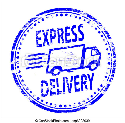 Express Delivery Stamp - csp6203939